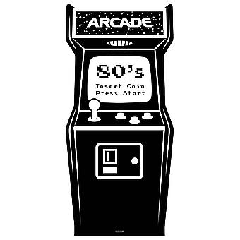 1980s Black and White Video Arcade Game Cardboard Cutout / Standup / Standee
