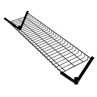4' Top Shelf for our Caraselle 4' Superior All Black Clothes Rail