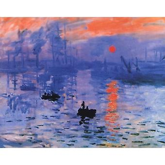 Impression Sunrise - Blue - Claude Monet Poster Poster Print