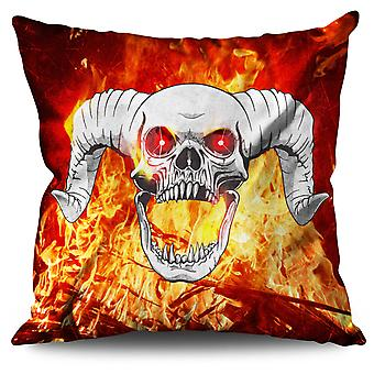 Scream Metal Bad Bone Linen Cushion 30cm x 30cm | Wellcoda