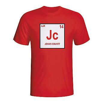 Йохан Кройф Ajax периодической таблицы футболку (красный)