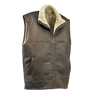 Eastern Counties Leather Mens Harvey Sheepskin Gilet
