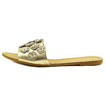 Daya bij Zendaya Womens jachthaven leer Open teen Casual schuif sandalen