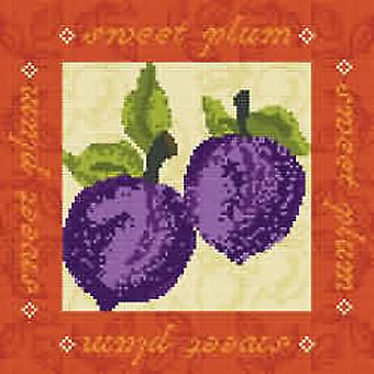 Sweet Plums Needlepoint Kit