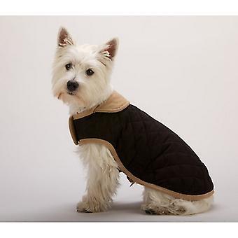 犬なくなってスマート スエード キルティング腹犬のコート