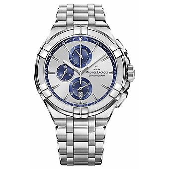 Maurice Lacroix Mens Aikon acier inoxydable Bracelet cadran argent AI1018-SS002-131-1 montre