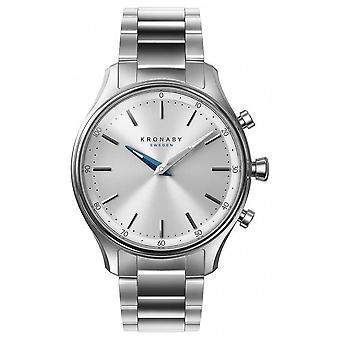 Kronaby 38mm SEKEL Bluetooth roestvrijstalen armband A1000-0556 S0556/1 horloge