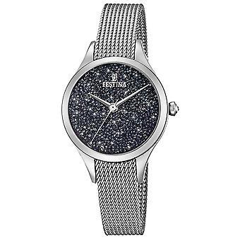 Festina Damen mit Swarovski-Kristallen Mesh Armband F20336/3 Uhr