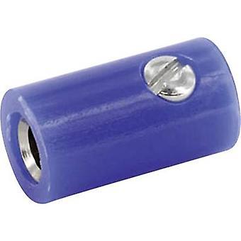 ECON-HOKBL Jack aansluiting Socket, verticale verticale Pin diameter: 2.6 mm blauw 1 PC('s)