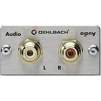 Oehlbach PRO في MMT-C AUDIO RCA ستيريو (R / L) الوسائط المتعددة inset + كابل المروحة