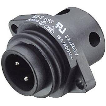 Courant Nominal de Standard circulaire 693 série connecteur Binder 09-4223-00-04 (détails): 16 un certain nombre de broches: 3 + PE