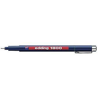 Edding 4-180005-1-1001 edding 1800 profipen Fineliner الأسود 0.5 ملم 1 pc (s)