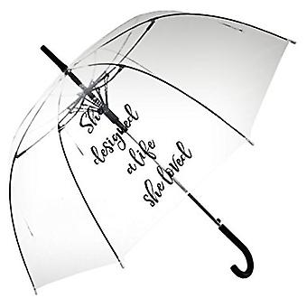 Straight Clear Umbrella (She designed a life she loved)