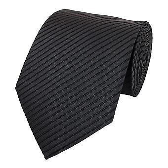 Gravata, gravata gravata gravata 8cm antracite preto listrado Fabio Farini