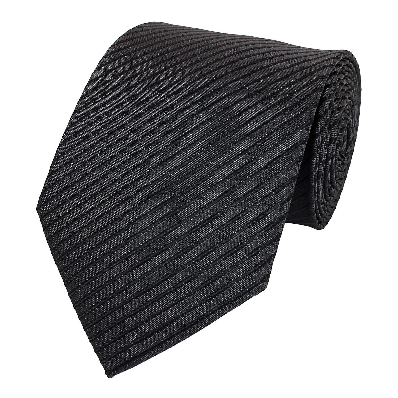 Cravatta cravatta cravatta cravatta 8cm antracite nero zebrato Fabio Farini