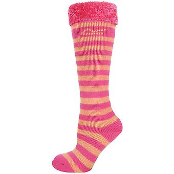 Regatta Boys & Girls Fur Collar Striped Wellington Socks