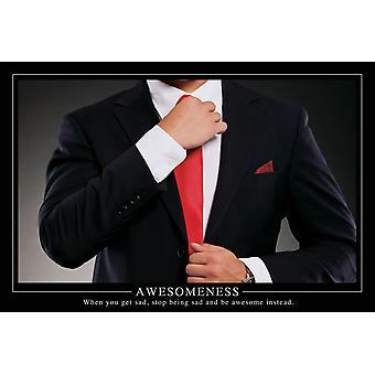 Awesomeness Barney Stinson US Poster How I Met Your Mother Kun tulet surulliseksi, lakkaa olemasta surullinen ja ole sen sijaan mahtava. Yhdysvaltain versio 61 x 91,5 cm
