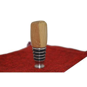 Wood wine stop wine closure wine stoepsel wine stopper bottle clasp wood stainless steel oak handmade unique gift gift idea