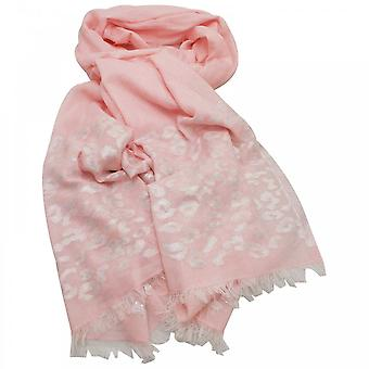 Ombre Pink Cheetah Print Long Woven Scarf