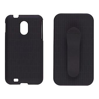 Sprint Rubberized Snap-On Case with Belt-Clip Holster for Samsung SPH-D710 (Black)