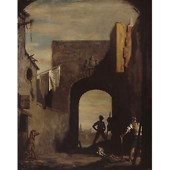 The Knackers Yard, William Orpen, 50x40cm