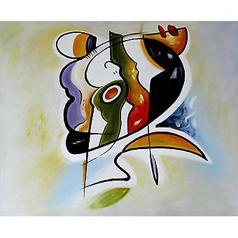 Abstrakt, olejomalba na plátně 50x60 cm