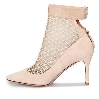 Valentino pizzo Stivaletto alla caviglia in camoscio polvere