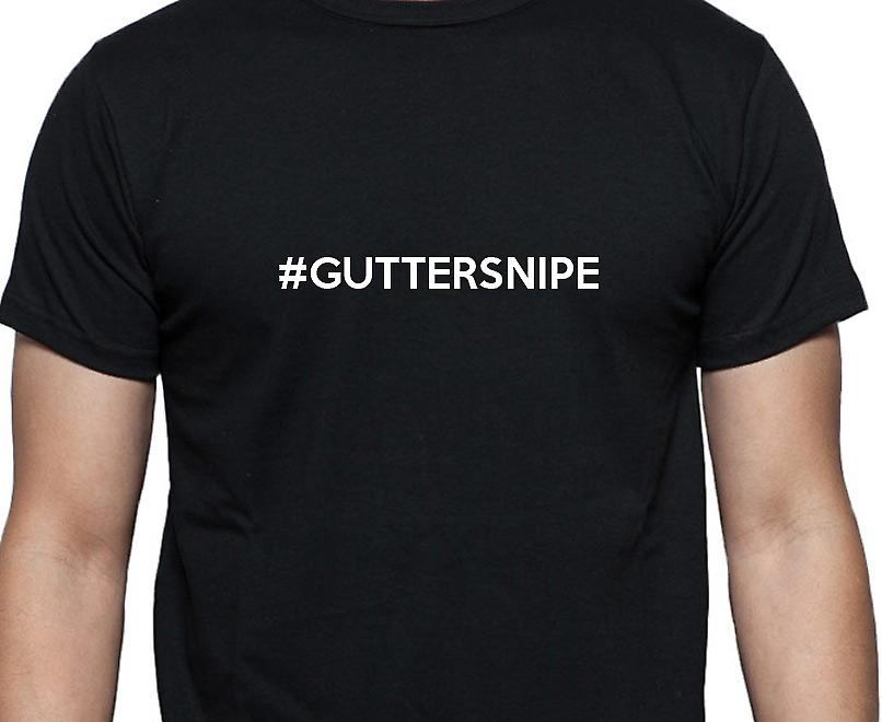 #Guttersnipe Hashag Guttersnipe Black Hand Printed T shirt