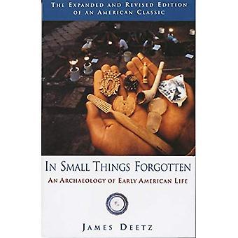 I små saker glömt: Arkeologin av tidiga amerikanska liv
