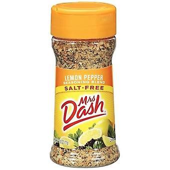 Mevrouw Dash Lemon Pepper zoutloos kruiden Mix 2 fles Pack