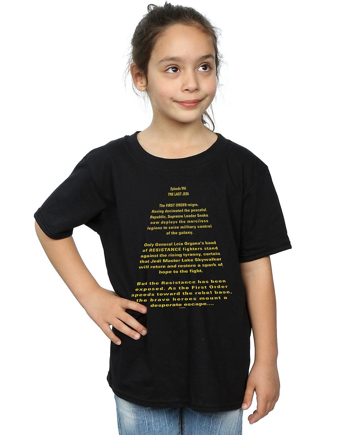 Star Wars Girls The Last Jedi Opening Crawl T-Shirt