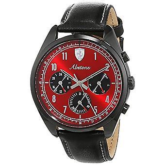 Scuderia Ferrari reloj Multi dial cuarzo hombres con cuero 830571