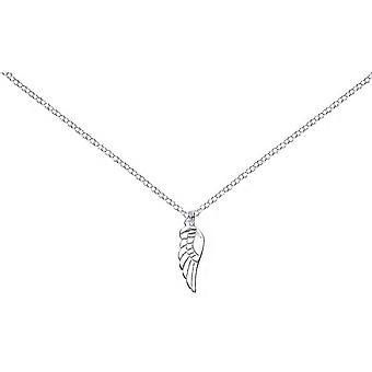 Bella Single Angels Wing Pendant - Silver