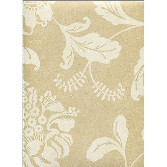 Floral Wallpaper Flowers Leaves Kenneth James Gold White Paste The Paper
