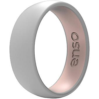Enso Rings Dualtone Series Silicone Ring - Misty Grey/Pink Sand