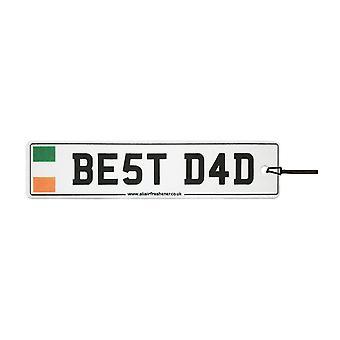 Ireland - Best Dad License Plate Car Air Freshener