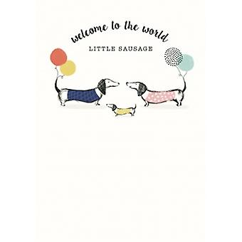New Baby Sausage Dog Card