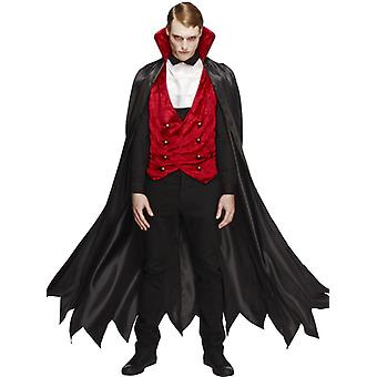 Fever collection vampire costume with vest, Cape and tie