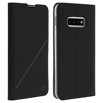 Muvit Galaxy S10 Plus Case Card Holder Support Function Hard Shell Black