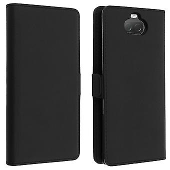 Sony Xperia 10 Case Wallet Stand Function DZgogo - Black