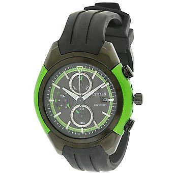 Caoutchouc de Citizen Eco-Drive Chronograph Mens Watch CA0289-00E