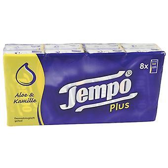 Tempo Pocket 8 Packs de tissus d'aloès