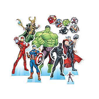 Marvel Avengers virallinen pöytälevy cutout / standees party pack 7