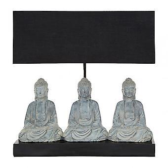Premier Home Boho Buddha Lamp, Fabric + PVC, Resin