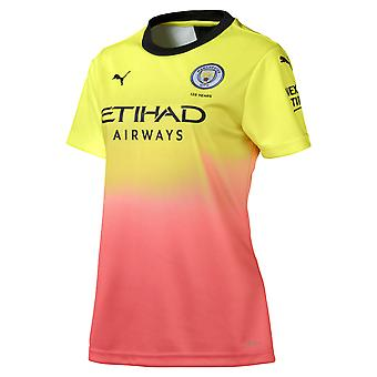 Puma Manchester City 2019/20 Womens Short Sleeve Third Football Shirt Yellow
