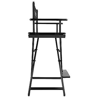 كرسي مدير استوديو شاني - بستول من الألومنيوم الصلب - أسود