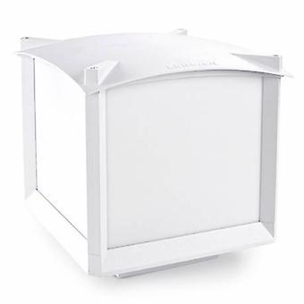 1 Light Medium Outdoor Bollard Light White Ip44
