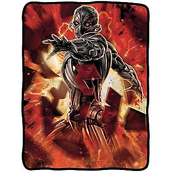 Blanket Marvel Avengers Movie 2 Ultron Fire Fleece New cfb-aum2-avengers