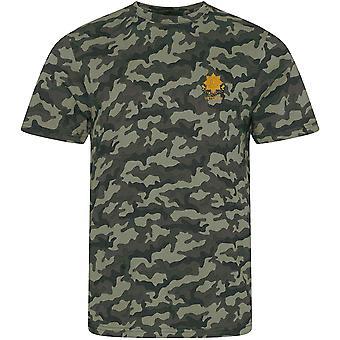 East Yorkshire Regiment Veteran - Licenciado Ejército Británico Bordado Camuflaje Impresión Camiseta