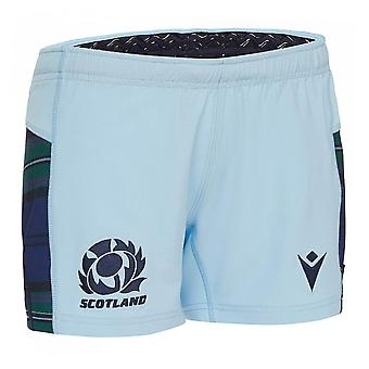 2019-2020 Scotland Macron Alternate Rugby Shorts (Sky) - Kids